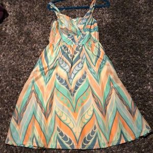 Multi colored midi dress